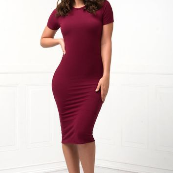 You Belong To Me Dress - Burgundy