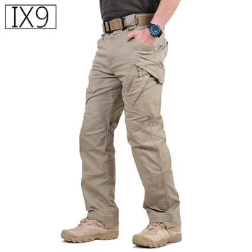 IX9 Militar Tactical Cargo Pants Men Combat SWAT Army Military Pants Cotton Pockets Stretche Paintball Clothing Casual Trousers