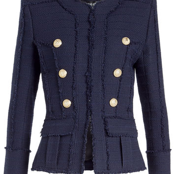 Blazer with Embossed Buttons - Balmain | WOMEN | KR STYLEBOP.COM