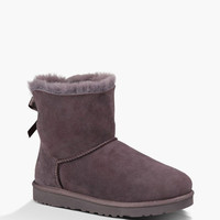 Ugg Mini Bailey Bow Womens Boots Locomotive Grey  In Sizes