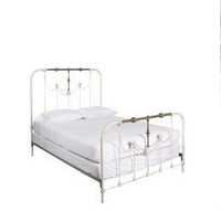 Anthropologie Iron and Brass Queen Bed Frame