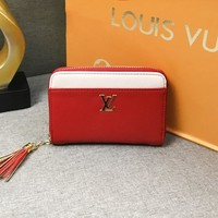 LV Louis Vuitton Fashion new casual zipper solid color small wallet