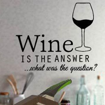 Funny Kitchen stickers, Wine Decals, Wall Decor.