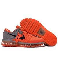 Nike Air Max Stylish Women Men Casual Air Cushion Sneakers Running Sport Shoes Orange I