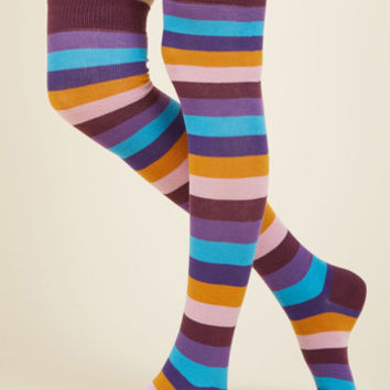 Show Your True Stripes Thigh Highs | Mod Retro Vintage Socks | ModCloth.com