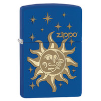 Zippo® Sun & Moon Royal Blue Matte Lighter