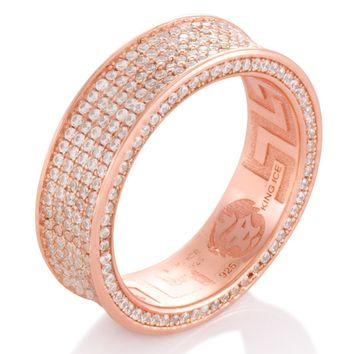 The Rose Gold 5-Row Infinity Ring (.925 Sterling Silver)