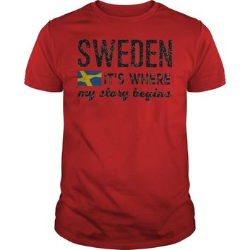 Sweden it's where my story begins shirt