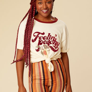 Altar'd State Feelin' Peachy Graphic Top - Short Sleeve - Tops - Apparel