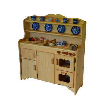 Waldorf Wooden Toy Kitchen- Play Kitchen-Play Stove- toy stove- Toy Kitchen-Child's toy kitchen-Montessori Kitchen