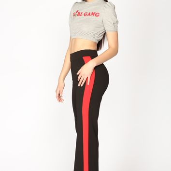 Lexy Striped Pants - Black/Red