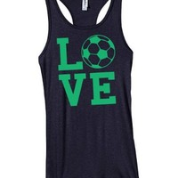 Love Soccer Juniors Tank-Small-Black