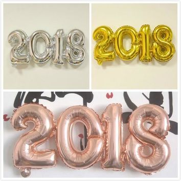 65X30cm  2018 Digital Aluminum Film Balloon Party Wedding New Year Decoration High Quality Conjoined Balloon