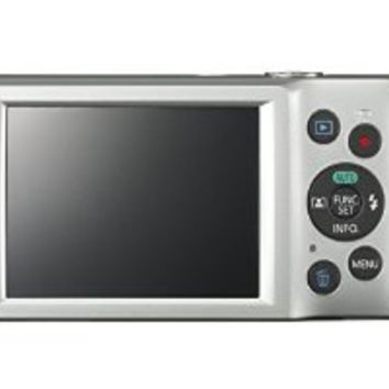 Canon PowerShot ELPH 180 (Silver) with 20.0 MP CCD Sensor and 8x Optical Zoom