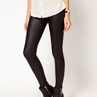 Oasis Matte And Shine Leggings at asos.com