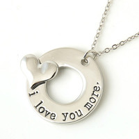 Love Message Pendant Necklace-Love You More