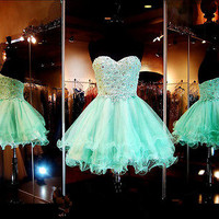 2016 Short Homecoming Cocktail Party Graduation Dresses Evening Prom Formal Gown