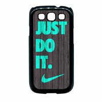 Nike Just Do It Wood Colored Darkwood Wooden Fdl Samsung Galaxy S3 Case