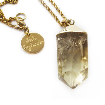 Glow Necklace - Lemon Quartz