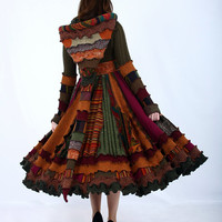Colorful Fall Sweater Coat - Recycled Dream Coat - RESERVED Layaway for Melanie