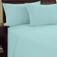 """Elegance Linen ® 1500 Thread Count CHAIN DESIGN Egyptian Quality Luxurious Silky Soft WRINKLE & FADE RESISTANT HypoAllergenic 4 pc Sheet set, Deep Pocket Up to 16"""" - Full Aqua"""