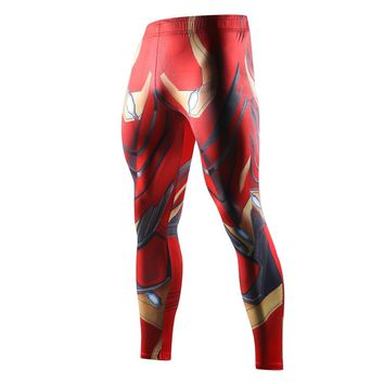 2018 Avengers 3 Infinity War iron Man Printed Compression Tights Pants Men Sweatpants Fitness Skinny Leggings Trousers Male