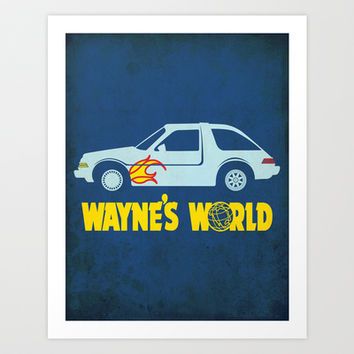 Wayne's World Minimalist Movie Poster Art Print by chelleonearth