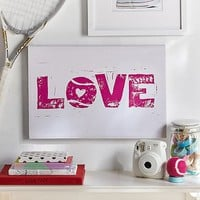 Tennis Love Canvas Art