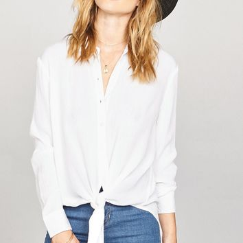 AMUSE SOCIETY - C'est la Vie Woven Shirt | White