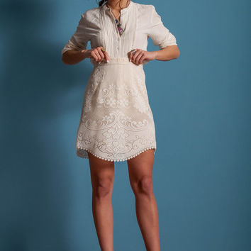 Lace skirt, a line skirt, off white lace skirt