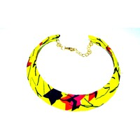 Fabric Choker necklace, African Print Necklace