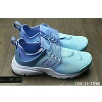 Nike Air Presto men and women casual fashion sports running shoes F-HAOXIE-ADXJ Lake blue