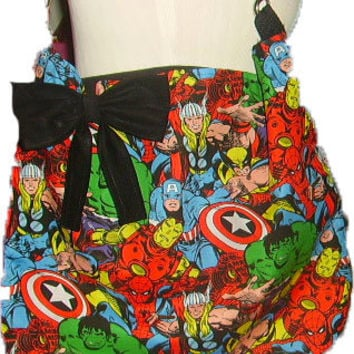 Marvel Comic Book Super Hero Diaper Bag Hulk spider man Avengers Slouch Hobo Tote Handbag Travel  School Covered Customized
