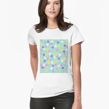 'Flowers' T-shirt by VibrantVibe