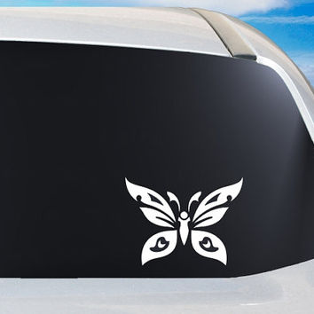 Tribal Butterfly Car Vinyl Decal Window Sticker, Laptop accent decal, Truck Mirror Tablet Phone case gift ideas, gift for her