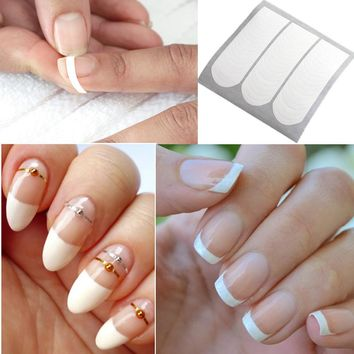 1 Sheet French Nail Manicure Nail Tip Guides Strip Nail Art Sticker Manicure Sticker
