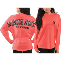 Oregon State Beavers Women's Aztec Sweeper Long Sleeve Top – Orange