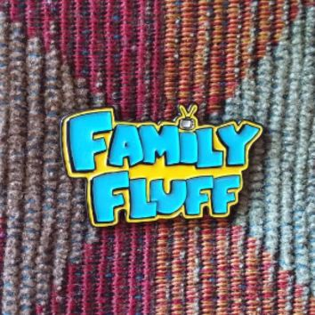 Family Fluff LSD Acid Blotter Art Cartoon Parody Enamel Lapel Hat Pin