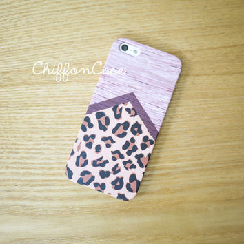 Cheetah Leopard iPhone 5 Case , iPhone 5s Case, Wood iPhone 5 Cover, Unique Apple iPhone Case, Cute Geometric iPhone 5 Cases