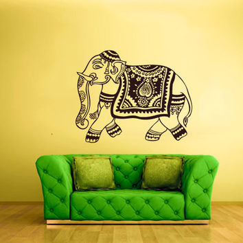 rvz1522 Wall Vinyl Sticker Decals Decor Elephant India Hindu Animal