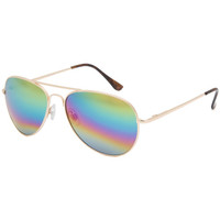 Full Tilt Gamma Ray Rainbow Aviator Sunglasses Multi One Size For Women 25586295701