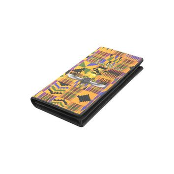 KENTE PRINT WALLET Women's Leather Wallet