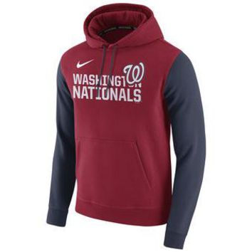 Washington Nationals Nike MLB Red/navy Ultra Pullover Hoodie