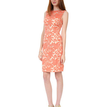 Kay Unger Sleeveless Embroidered Lace Dress