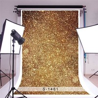3x5ft Golden Glitters Photography Backgrounds Vinyl Studio Baby Photo Backdrops