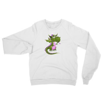Draco Green Purple Raglan sweater