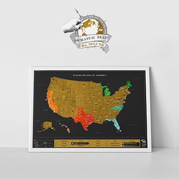 Scratch Map® USA Deluxe Edition