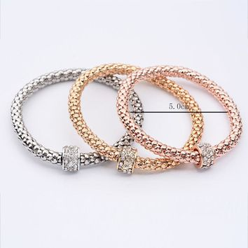 3Pcs Women Girl Charm Pendant Bracelet Fashion Multilayer Bracelet