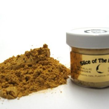 Classic Gold Mica Powder 1oz, Metallic Gold Powder, Cosmetic Mica, Slice of the Moon