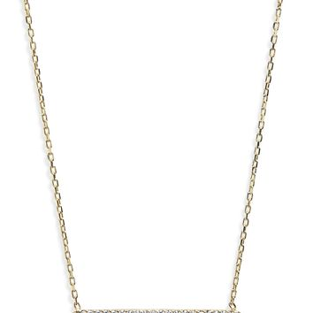 Shashi Mariah Pavé Crystal Bar Pendant Necklace | Nordstrom